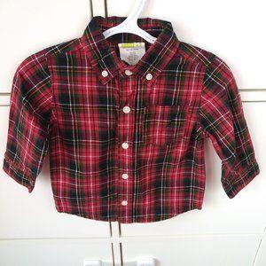 Toddler boy plaid dress shirt 18 months